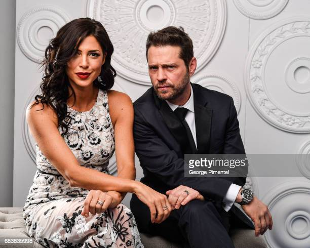 Cindy Sampson and Jason Priestly pose in the ETalk Portrait Studio at the 2017 Canadian Screen Awards at the Sony Centre For Performing Arts on March...