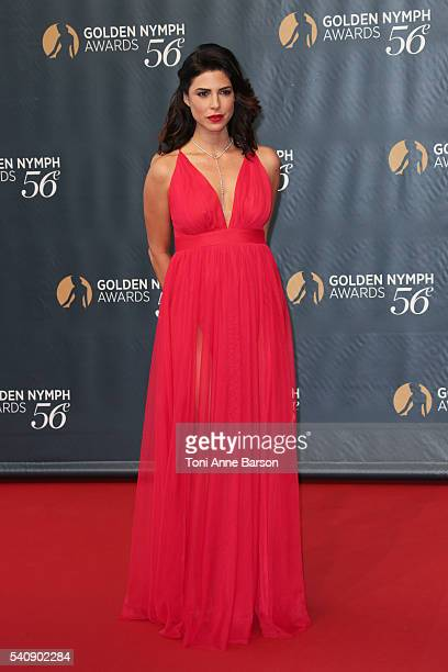 Cindy Sampson arrives at the 56th Monte Carlo TV Festival Closing Ceremony and Golden Nymph Awards at The Grimaldi Forum on June 16 2016 in...