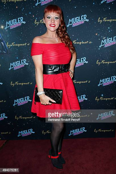 Cindy Sander attends the 'Mugler Follies' 100th Edition at Le Comedia in Paris on May 26 2014 in Paris France
