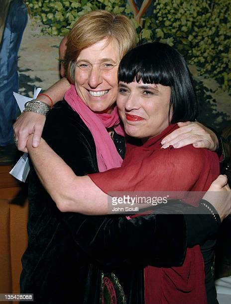 Cindy Sheehan and Eve Ensler during Eve Ensler's The Good Body Opening Night Benefit for VDay LA 2006 After Party at Napa Valley Grille in Los...
