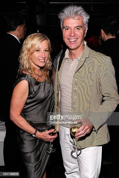 Cindy Sherman and David Byrne attend the Mulberry Spring/Summer 2011 Fashion Week Party at Soho House on September 14 2010 in New York City