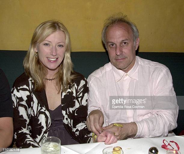 Cindy Sherman and Leon Falk during Dance Brazil's Party at Barolo Restaurant in New York City New York United States
