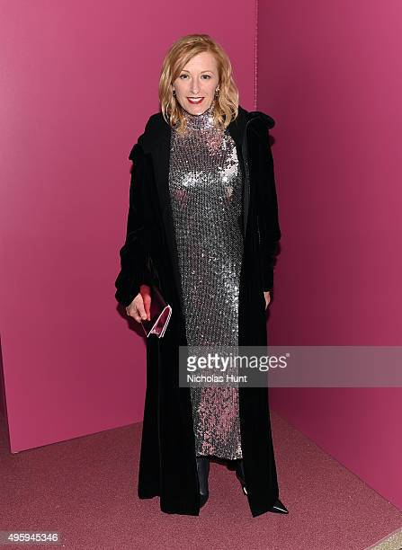 Cindy Sherman attends the 2015 Guggenheim International Gala Dinner made possible by Dior at Solomon R Guggenheim Museum on November 5 2015 in New...