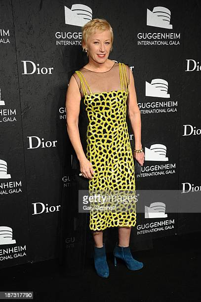 Cindy Sherman attends the Guggenheim International Gala made possible by Dior at the Guggenheim Museum on November 7 2013 in New York City