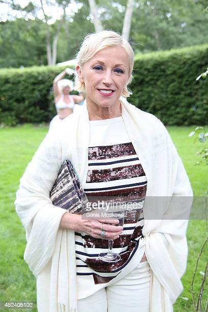 Cindy Sherman attends the Longhouse Reserve 2014 'White Hot Blue 2' Benefit Gala at LongHouse Reserve on July 19 2014 in East Hampton New York
