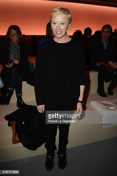 Cindy Sherman attends the Louis Vuitton show as part of the Paris Fashion Week Womenswear Fall/Winter 20142015 on March 5 2014 in Paris France