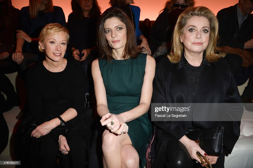 Cindy Sherman, Chiara Mastroianni and Catherine Deneuve attend the Louis Vuitton show as part of the Paris Fashion Week Womenswear Fall/Winter 2014-2015 on March 5, 2014 in Paris, France.
