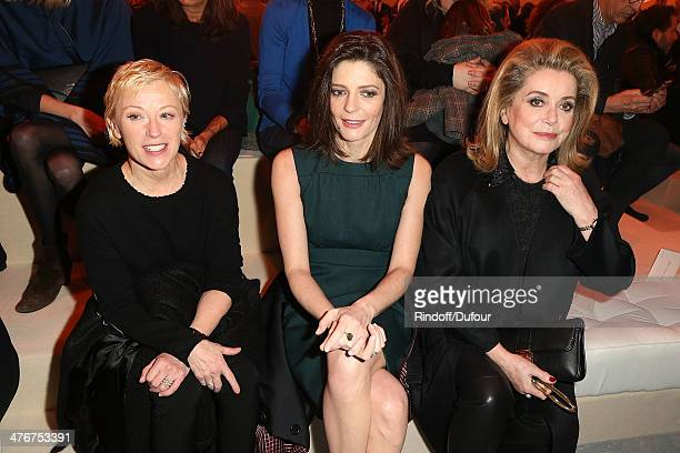 Cindy Sherman Chiara Mastroianni and Catherine Deneuve attend the Louis Vuitton show as part of the Paris Fashion Week Womenswear Fall/Winter...