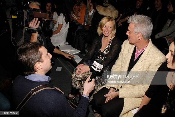 Cindy Sherman David Byrne and Malu Byrne attend MARC JACOBS Fall 2007 Collection at The Armory on February 5 2007 in New York City