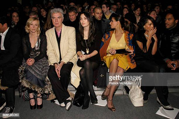 Cindy Sherman David Byrne Malu Byrne and Front Row attend MARC JACOBS Fall 2007 Collection at The Armory on February 5 2007 in New York City