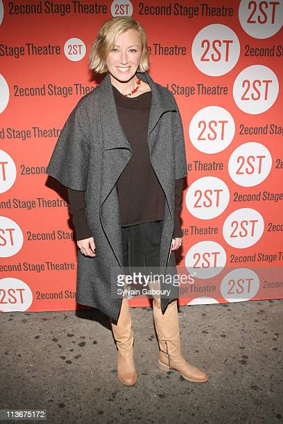 Cindy Sherman during Opening Night for the Second Stage Theatre Production of Eric Bogodian's 'Suburbia' Arrivals at Second Stage Theatre at 307 West...