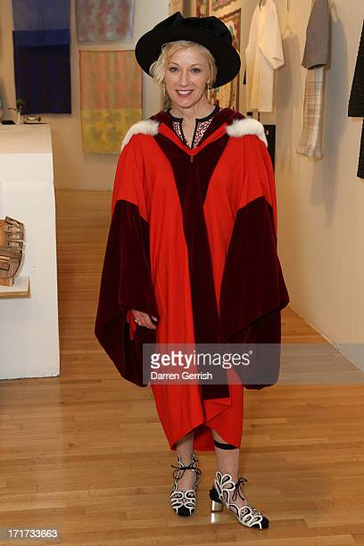 Cindy Sherman receives an honorary doctorate at Royal College of Art on June 28 2013 in London England