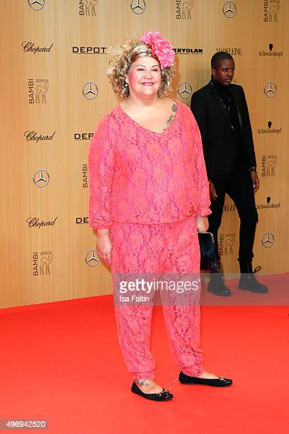 Cindy von Marzahn attends the Kryolan At Bambi Awards 2015 Red Carpet Arrivals on November 12 2015 in Berlin Germany