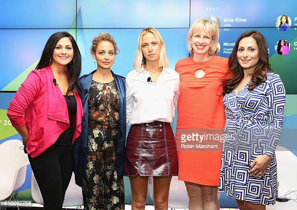 Cindy Whitehead Nicole Richie Misha Nonoo Allie Kline Farnoosh Tarobi attend Breaking the Mold at Thomson Reuters during 2016 Advertising Week New...