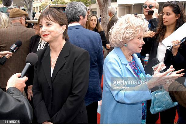 Cindy Williams and Phyllis Diller during Stars Turn Out To Celebrate Bob Hope's 100th Birthday at Hollywood Entertainment Museum in Hollywood CA...