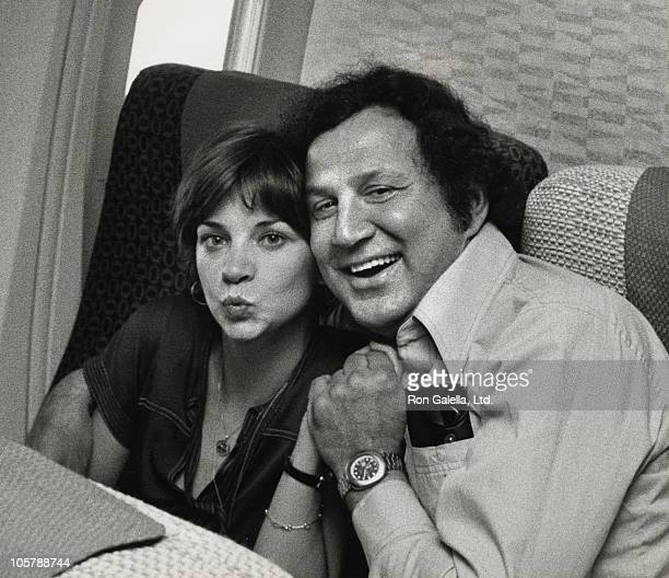 Cindy Williams and Ron Galella during Cindy Williams and Ron Galella Sighting Onboard an Airplane June 2 1977 at Aboard an Airplane in Dallas Texas...