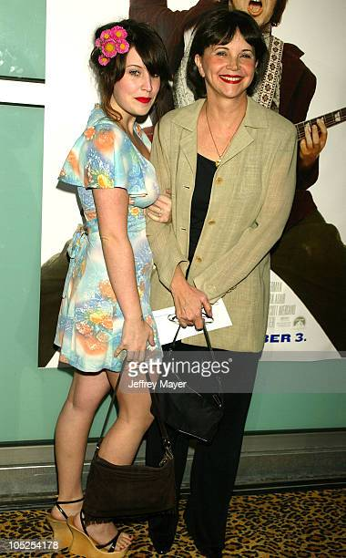 Cindy Williams daughter Emily Hudson during School of Rock Premiere Arrivals at Cinerama Dome in Hollywood California United States