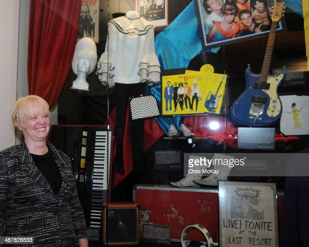 Cindy Wilson of The B52's attends the ARTifacts Rock Athens Relics From The Athens Music Scene 1975 1985 opening reception at University Of Georgia...