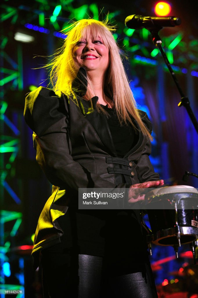 Cindy Wilson of The B-52's performs at the 55th Annual GRAMMY Awards after party at the Los Angeles Convention Center on February 10, 2013 in Los Angeles, California.