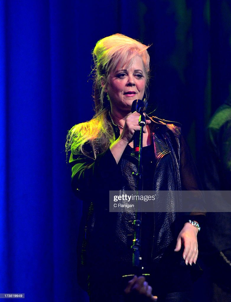 Cindy Wilson of The B-52's performs at The Fillmore on July 15, 2013 in San Francisco, California.
