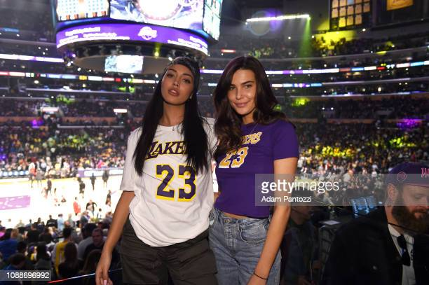 Cindy Wolf and Charlotte D'Alessio attend a game between the Minnesota Timberwolves and Los Angeles Lakers on January 24 2019 at STAPLES Center in...