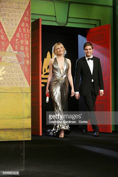 Cinefondation and Short Film Jury members Emmanuelle Seigner and Daniel Bruhl at the closing ceremony of the 59th Cannes Film Festival