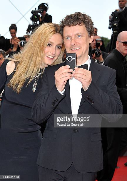 Cinefoundation Jury member Julie Gayet and jury president Michel Gondry attends the 'Les BienAimes' premiere at the Palais des Festivals during the...
