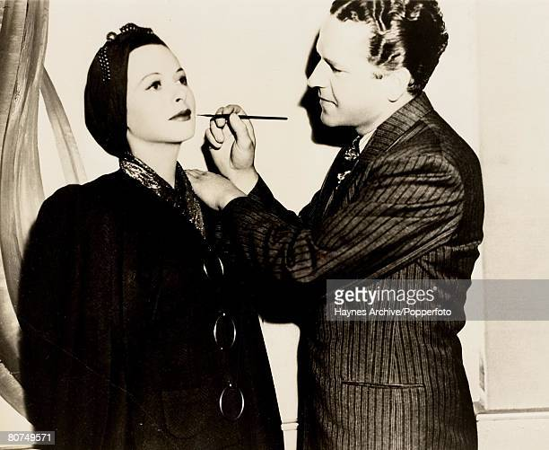 Cinema A picture of the American film actress Hedy Lamarr being made up prior to filming in Hollywood
