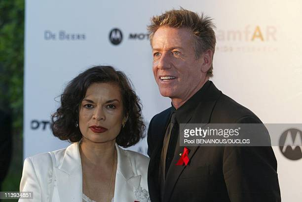 Cinema against AIDS 2002 to benefit the american foundation for aids research In Mougins France On May 23 2002Bianca Jagger and calvin Klein