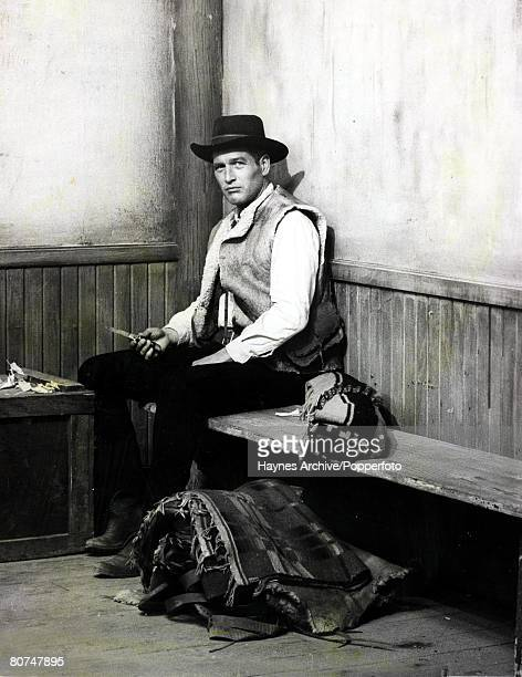 Cinema American film actor Paul Newman in a still from the film Hombre 1967