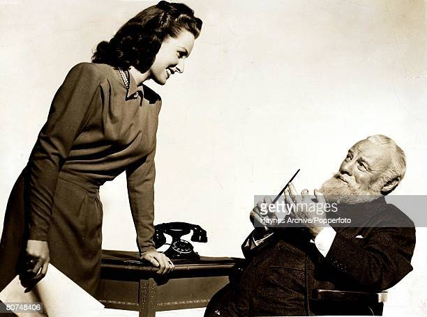 Cinema American film actors lr Maureen O'Hara and Edmund Gwenn in a still from the film Miracle on 34th Street 1947