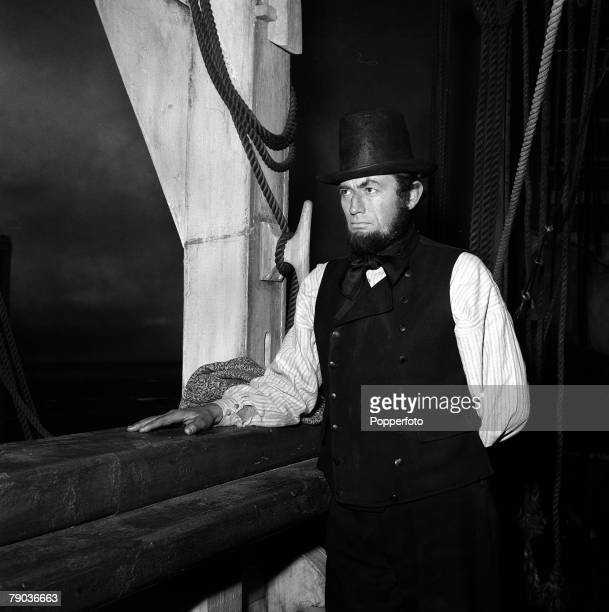 "Cinema American film star Gregory Peck pictured in the making of the film ""Moby Dick"""