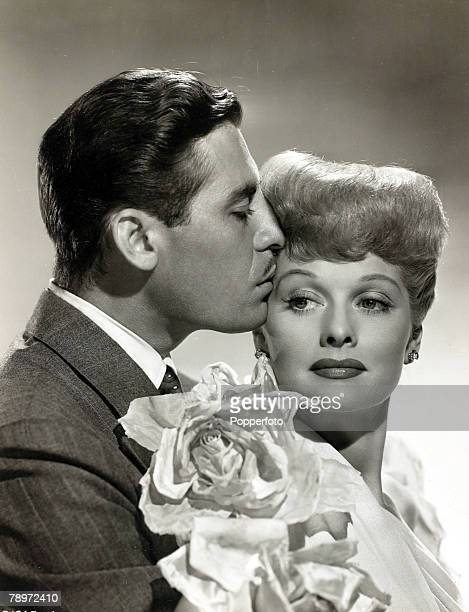 circa 1940 Lucille Ball pictured in a scene with John Hodiak American actress Lucille Ball will be remembered as the dizzy sitcom comedy actress who...