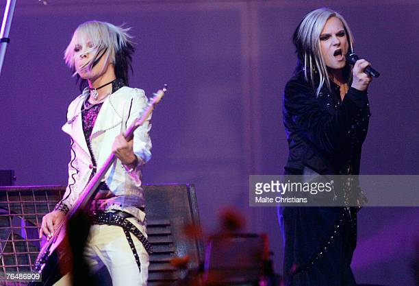 Cinema Bizarre performs during The Dome 43 music show at the Color Line Arena on August 31 2007 in Hamburg Germany