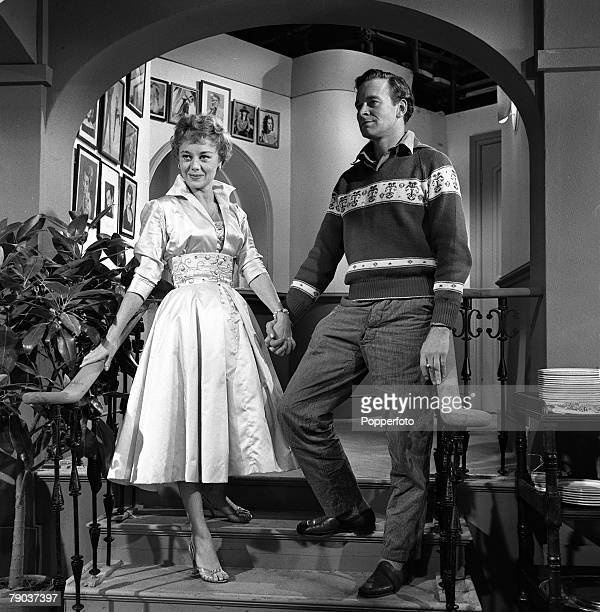 Cinema England British actors Tony Britton and Glynis Johns are pictured in a scene from the film Loser Takes All