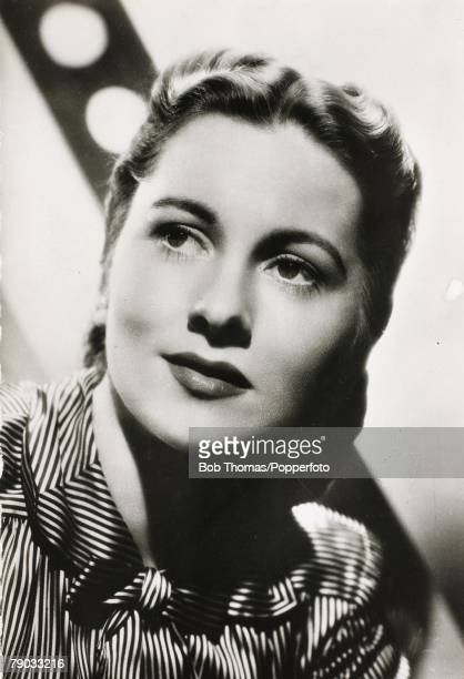 Cinema Film Actresses Circa 1930's The screen star Joan Fontaine born 1917