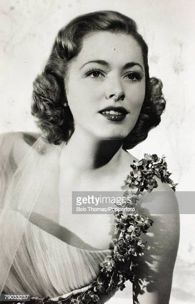 Cinema Film Actresses Circa 1940's A picture of the American screen star Eleanor Parker born 1922