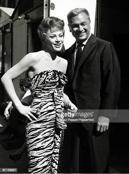 Cinema Personalities American actor Eddie Albert with Nita Talbot on the set of the film Who's Got The Action