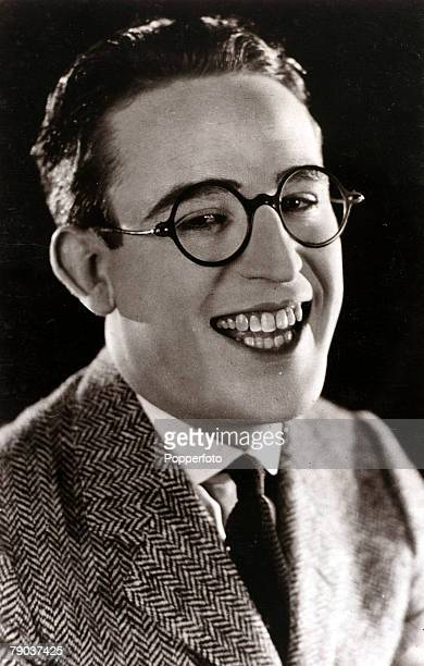 Cinema Personalities circa 1920s American comedy film actor Harold Lloyd portrait a star of the silent film era