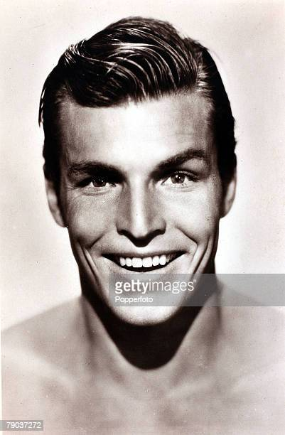 Cinema Personalities circa 1930's American actor Buster Crabbe portrait who played the hero in many 1930's movies as Flash Gordon Buck Rogers and...
