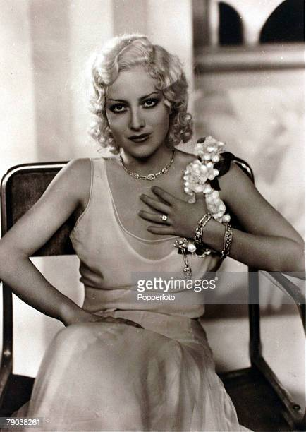 Cinema Personalities circa 1930's American actress Joan Crawford portrait who became a star after the 1928 film 'Our Dancing Daughters' while her...