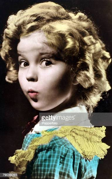 Cinema Personalities circa 1930's American child star film actress Shirley Temple who made her film debut at the age of 3 and during the depression...