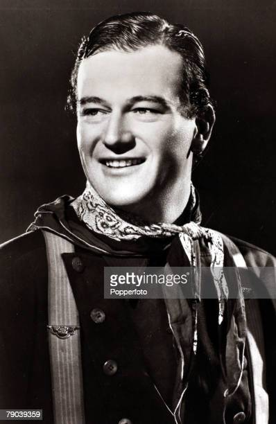 Cinema Personalities circa 1930s American film actor John Wayne nicknamed Duke famous for his roles in westerns who came to prominence in the 1939...