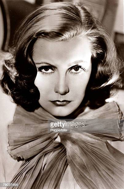 Cinema Personalities circa 1930s Swedish born film actress Greta Garbo portrait born Stockholm 1905 who went to America in the 1920s and became a...