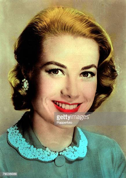Cinema Personalities circa early 1950s American actress Grace Kelly born in Philadelphia in 1929 portrait Grace Kelly was had a cool beauty and was a...