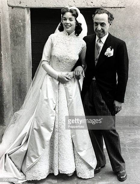 1954 British actress Dawn Addams marries Prince Vittorio Massimo in Rome