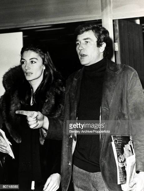 Cinema Personalities London England pic 5th January 1969 Aimee Anouk born 1932 French actress pictured here with British actor Albert Finney at...
