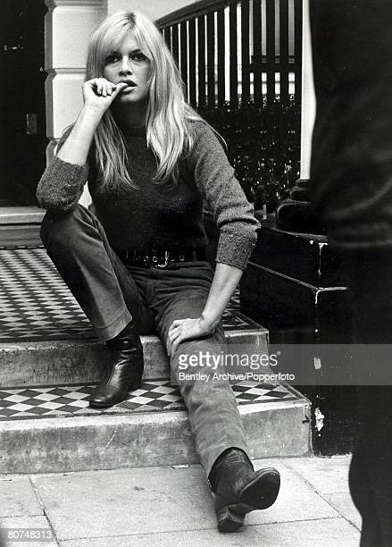 12th September 1966 French actress Brigitte Bardot pictured relaxing in London Brigitte Bardot first appeared on screen in 1952 married Roger Vadim...