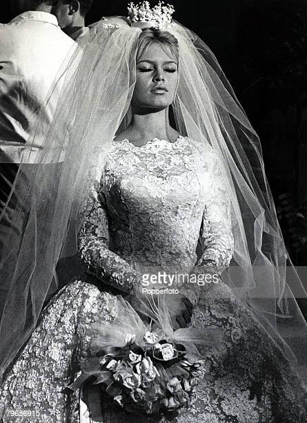 13th September 1959 French film actress Brigitte Bardot pictured as a lovely bride in the film ' Will You Dance With Me' Brigitte Bardot first...