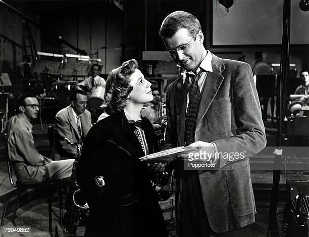 1953 American actress June Allyson born 1917 with actor James Stewart in a scene from the film The Glenn Miller Story June Allyson especially popular...